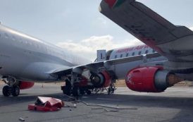 Images: collision entre deux avions de Kenya Airways